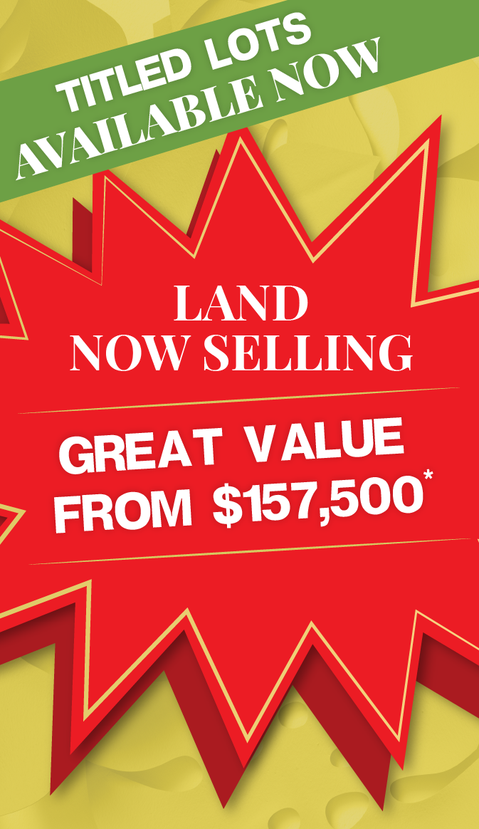 Great value! House & Land packages start from $150,000